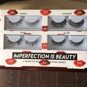 4 New Pairs of Ready Glued Eyelashes Marilyn Monro